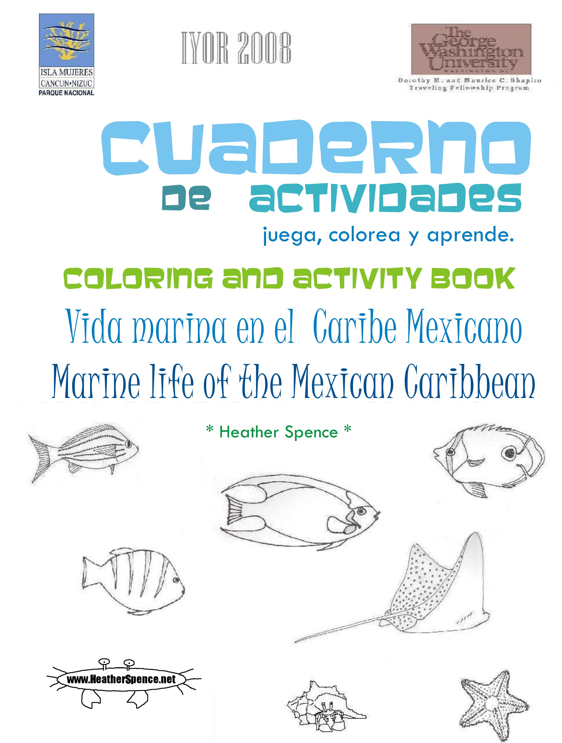 Marine Life Activity Book Cover