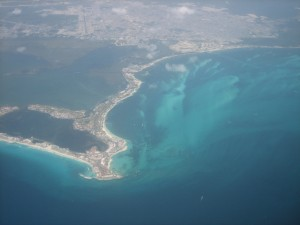 Cancun aerial photo