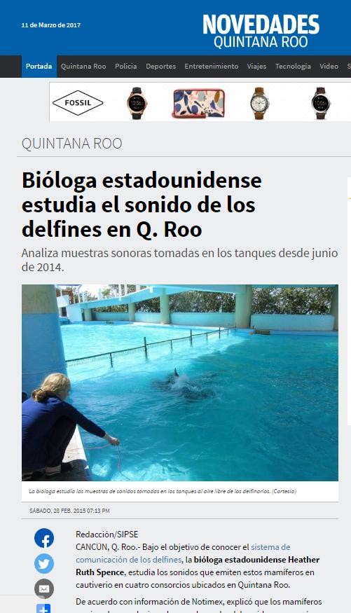 2015 novedades delfines